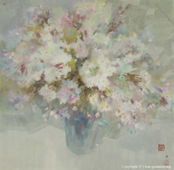 春樱 彩墨 50cm×50cm 2006年