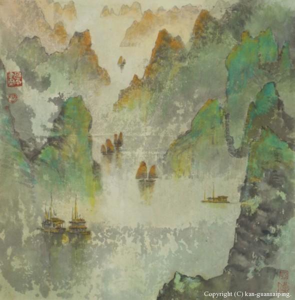 海上桂林 彩墨 49cm×50.4cm 2006年