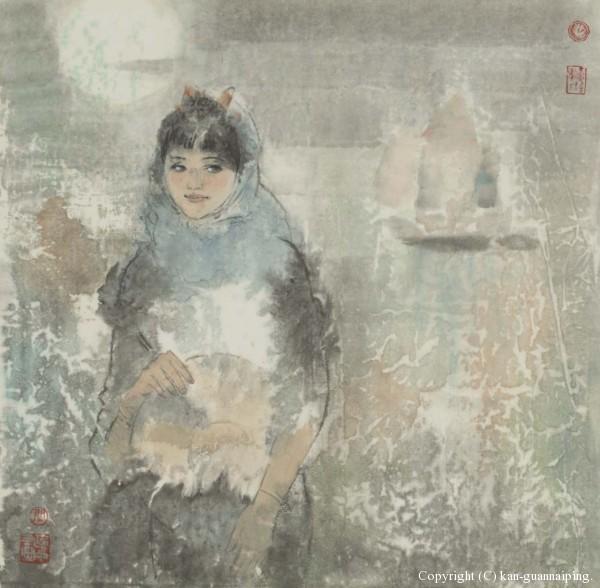海的女儿 彩墨 50cm×48cm 2011年