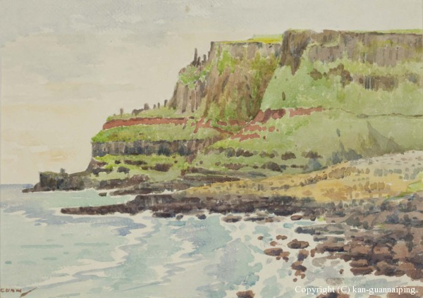 贝尔法斯特海滨 水彩 36.5cm×27cm 30年代