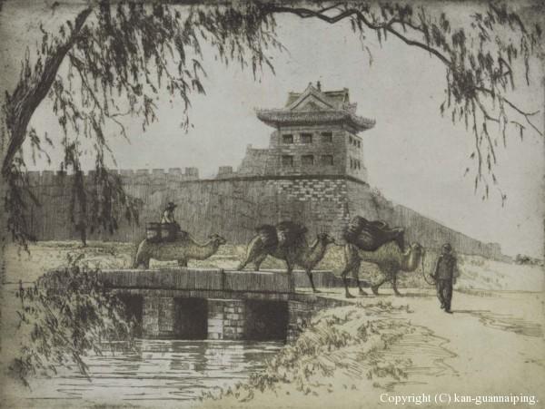 古城小景 19cm×14.5cm 1934年