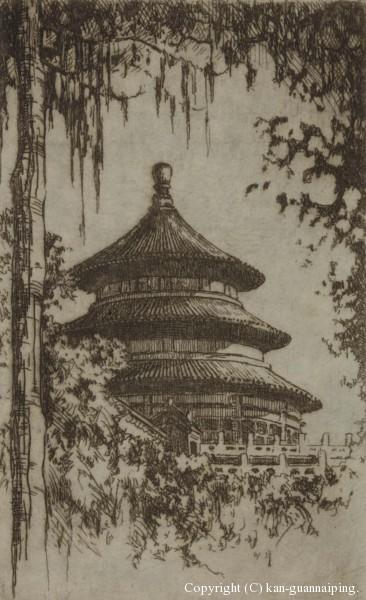 天坛 铜板 7.5cm×13cm 50年代